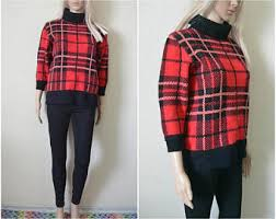 Plaid Cardigan Womens Plaid Sweater Etsy