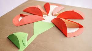 crafts for kids paper flowers using circles shapes for kids