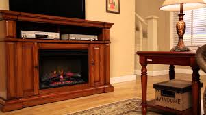 hampton bay u0027chatham u0027 electric fireplace youtube