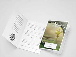 funeral program design comforter funeral program word template obituary programs