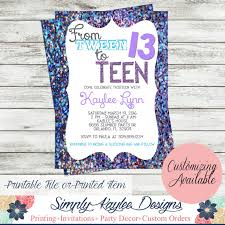 hashtag neon party birthday party invitation birthday tween to birthday party invitation by simplykayleedesigns