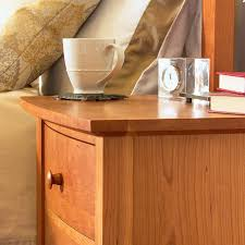 bow front 3 drawer night stand handcrafted solid wood bedroom