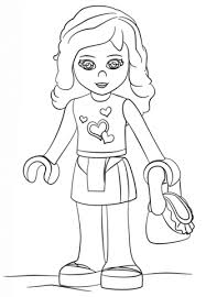 lego girl coloring page lego friends olivia coloring page free printable coloring pages