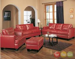 view decorating with red leather furniture home decor interior