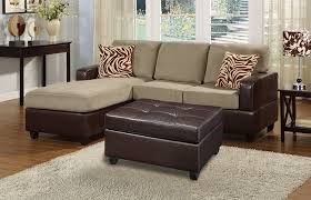 Brown Ottoman Furniture Brown Carpet With Small Sectional Sofas And White