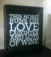 love laughter wine shadow box old gate creations