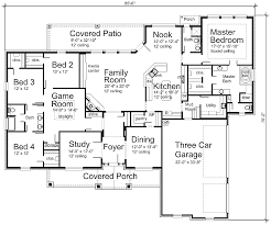 Floor Plan With Garage by Architecture Astounding Home Designs Plans With Three Car Port