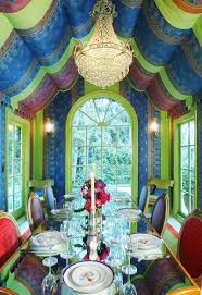 Hollywood Regency Dining Room Visual Feast 25 Eclectic Dining Rooms Drenched In Colorful