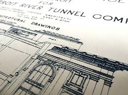 What Size Paper Are Blueprints Printed On by Blueprint Art Print Detroit Train Station By Cyberoptix