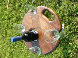 outdoor wine glass holder table outdoor wine table picnic table wine glass and bottle holder wine