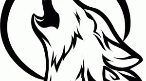 wolf howling drawing drawing a howling wolf silhouette black