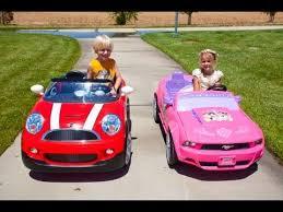 toddler mustang car car race mini cooper vs the princess mustang