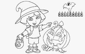 realistic halloween coloring pages dora halloween coloring pages
