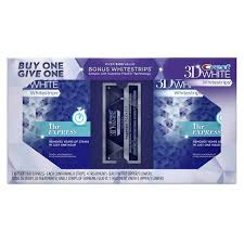 crest supreme whitening strips crest 3d white 1 hr express whitestrips bogo pack pg shop us