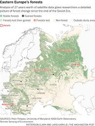 Map Eastern Europe Map The Fall Of The Soviet Union Made The World More Wooded The