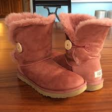 s pink ugg boots sale 85 ugg shoes ugg bailey button spice from blair posh