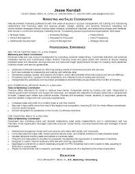 resume samples for sales and marketing 3 l sales marketing resume
