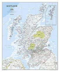 United States Wall Map Laminated by Scotland Classic Laminated