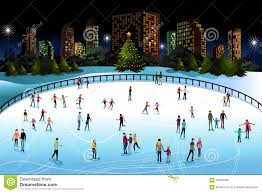 people ice skating outdoor stock vector image 60353269