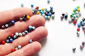 small evil eye tiny mixed color 4mm glass set of