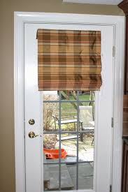 french door window coverings plaid roman shade for single french door decofurnish