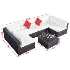 Sectional Patio Furniture Sets by Gym Equipment Outdoor Furniture Set Pe Wicker Rattan Sofa