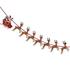 christmas reindeer and santa sleigh kids bunting by ginger ray