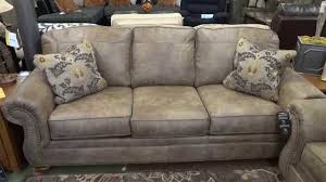 traditional sleeper sofa ashley furniture larkinhurst earth couch u0026 loveseat review youtube