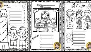 imagenes para colorear y escribir oraciones plantillas de dictados silábicos palabras frases y oraciones