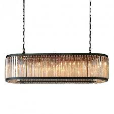 Chandelier Designer Rh Welles Crystal Rectangulare Chandelier Design By Restoration
