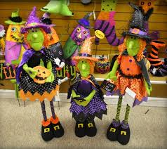 halloween witch standing decoration with stretch legs shelley b