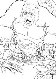 image king kong coloring coloring pages king kong