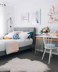 a warm pastel scandinavian style bedroom home inspiration