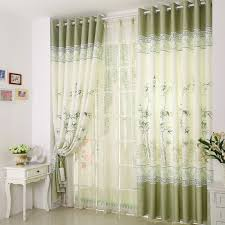 Office Curtain Lively Bamboo Pattern Polyester Linen Blend Curtain For Office Room