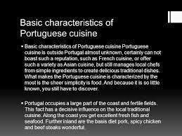 characteristics of cuisine portuguese cuisine hejralová bílková basic characteristics of