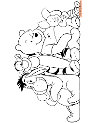 winnie the pooh u0026 friends coloring pages 3 disney coloring book