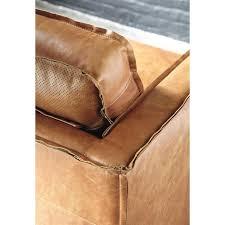 le monde du canapé canapé vintage 3 places en cuir camel maisons du monde