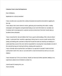 9 librarian cover letters free sample example format download