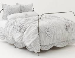 bedding set chic bedding amazing ruffled white bedding best