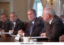 George Bush Cabinet U S Secretary Of Defense Colin Powell U S President George W