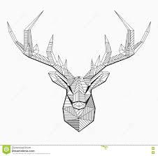 polygonal vector line deer stock vector image of deco 75375733