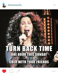 daylight savings yay spring cher share pun time