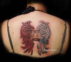 vertigo gallery tattoos emily gemini and evil wings