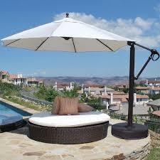 Sunbrella Patio Umbrella by Galtech 11 Ft Octagonal Aluminum Patio Cantilever Umbrella W