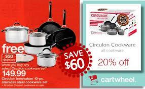 target black friday cookware save 60 on circulon innovatum 10 pc cookware set totallytarget com