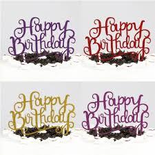 happy birthday cake topper happy birthday cake topper pink