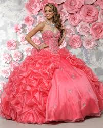 80300 water melon puffy quinceanera dresses ball gowns teenager