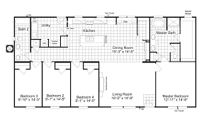 3 4 Bath Floor Plans by The Kensington 4 Ml30604k Manufactured Home Floor Plan Or Modular