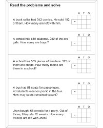 math subtraction worksheets