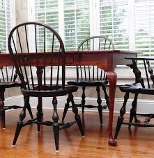 bob timberlake breakfast table and four windsor style chairs ebth
